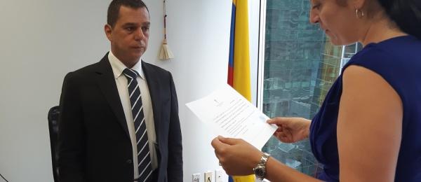 Jairo Augusto Abadía Mondragón se posesionó como nuevo Cónsul General de Colombia en Vancouver